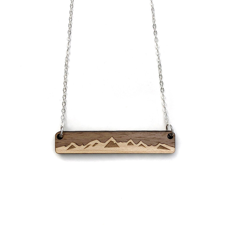Treeline and Tide Mountain Necklace