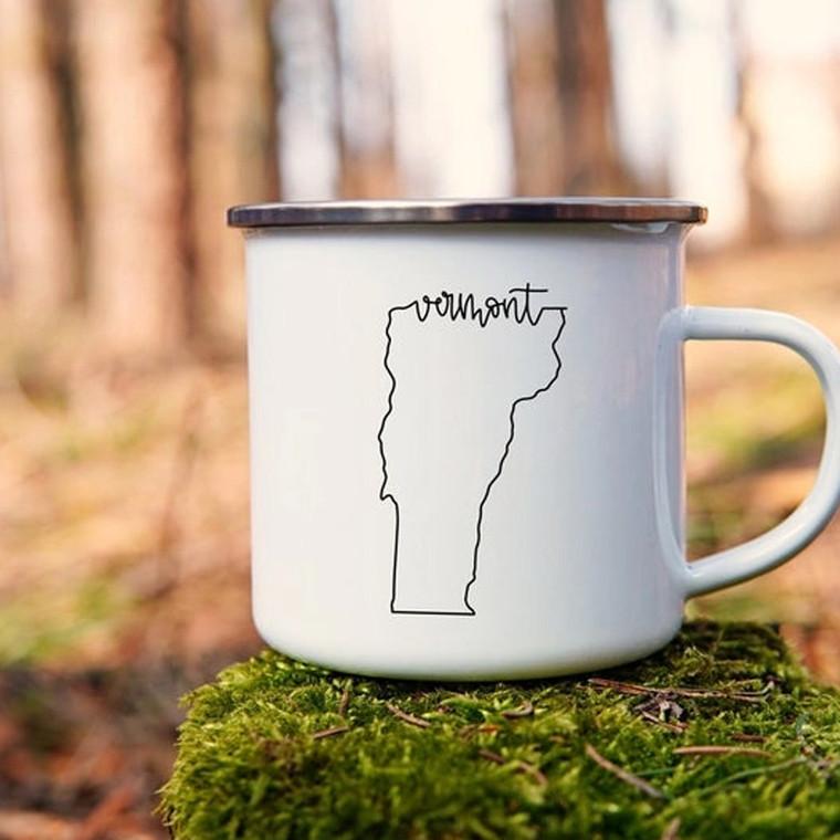 Daisy Mae VT State Enamel Mugs