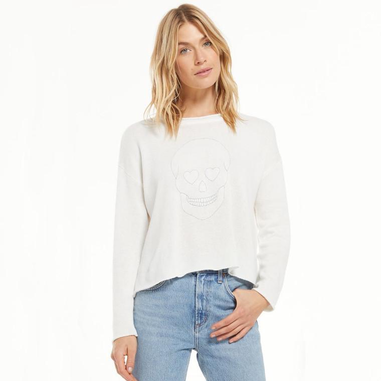 Z Supply Women's Ada Skull Sweater
