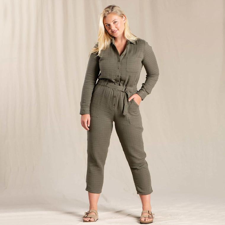Toad & Co Women's Tamarac Long Sleeve Jumpsuit
