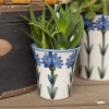 "6 1/2"" Flower Pot in Bachelor Button"