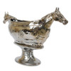 """26 1/2"""" Two Horse Head Serving Bowl With Stand"""