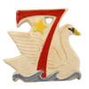 Seven Swans A Swimming Ornament