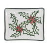 Christmas Serving Tray, Christmas Dinnerware in Holly Graffiti