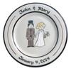 The Happy Couple Wedding Plate