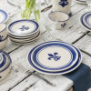 4-Piece Thin Place Setting in Fleur De Lis Blue