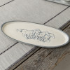 "20"" Antipasto Tray with Bowl Set in Embossed Running Horse"