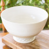 "14"" Champagne Bowl  in White - Louisville Pottery Collection"