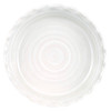 Thumb Print Pie Plate in White - Louisville Pottery Collection