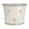"""11"""" Fleur de Lis Gardeners Pot in Special Grey"""