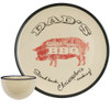 "Personalized 16"" Round Dad's World Famous BBQ Platter with Bowl Set"