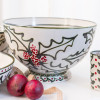 """14"""" Champagne Bowl in Holly Graffiti"""