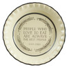 Pinched Rim Pie Plate Featuring Julia Child Quote