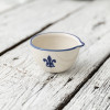 4 oz Spouted Nesting Bowl in Blue Fleur De Lis