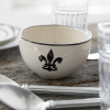 "20"" Antipasto Tray with Bowl in Black Flour De Lis"