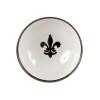 """7"""" Serving Bowl in Black Fleur De Lis"""