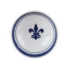 """7"""" Serving Bowl in Blue Fleur De Lis"""