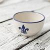 "20"" Antipasto Tray with Bowl in Blue Fleur De Lis"