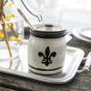 Black Fleur De Lis Honeypot