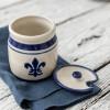 Blue Fleur De Lis Honey Pot