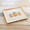 "14"" Square Tray in Pumpkin Pattern"