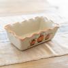 Pinched Rim Loaf Pan in Pumpkin Pattern