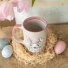 14 oz Bunny Easter Mug in Pink