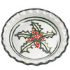 "11""Thumb Print Pie Plate in Holly Graffiti"
