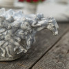 "16"" Embossed Running Horse Home Stretch Bowl in Grey"