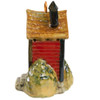 "6.5"" Outhouse Birdhouse in Red, The Jon Carloftis Collection"