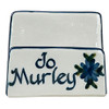 Personalized Bachelor Button Business Card Holder