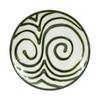 "Thin 9"" Plate in Graffiti Green, Stoneware Plate in Graffiti Green"