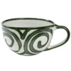 16 Ounce Stoneware Mug with Handle in Graffiti Green