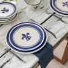 """11"""" Thin Plate in Blue Fleur de Lis"""
