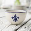 16 oz Bowl in Blue Fleur de Lis