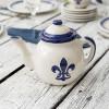 Teapot & Cover in Blue Fleur de Lis