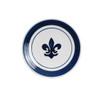 """8"""" Thin Plate in Blue Fleur De Lis"""