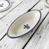 """15.5"""" Small Soirée Bowl in Blue Fleur de Lis"""