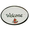 """University of Louisville Cardinal 8"""" Oval Door Plaque"""