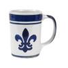 Blue Fleur de Lis Mug