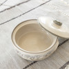 2 Qt Round Casserole & Cover in Embossed Running Horse