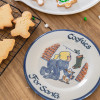 "9"" Rimmed Plate with Girl Leaving Cookies for Santa"