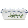 Pinched Rim Loaf Pan in Country Flower