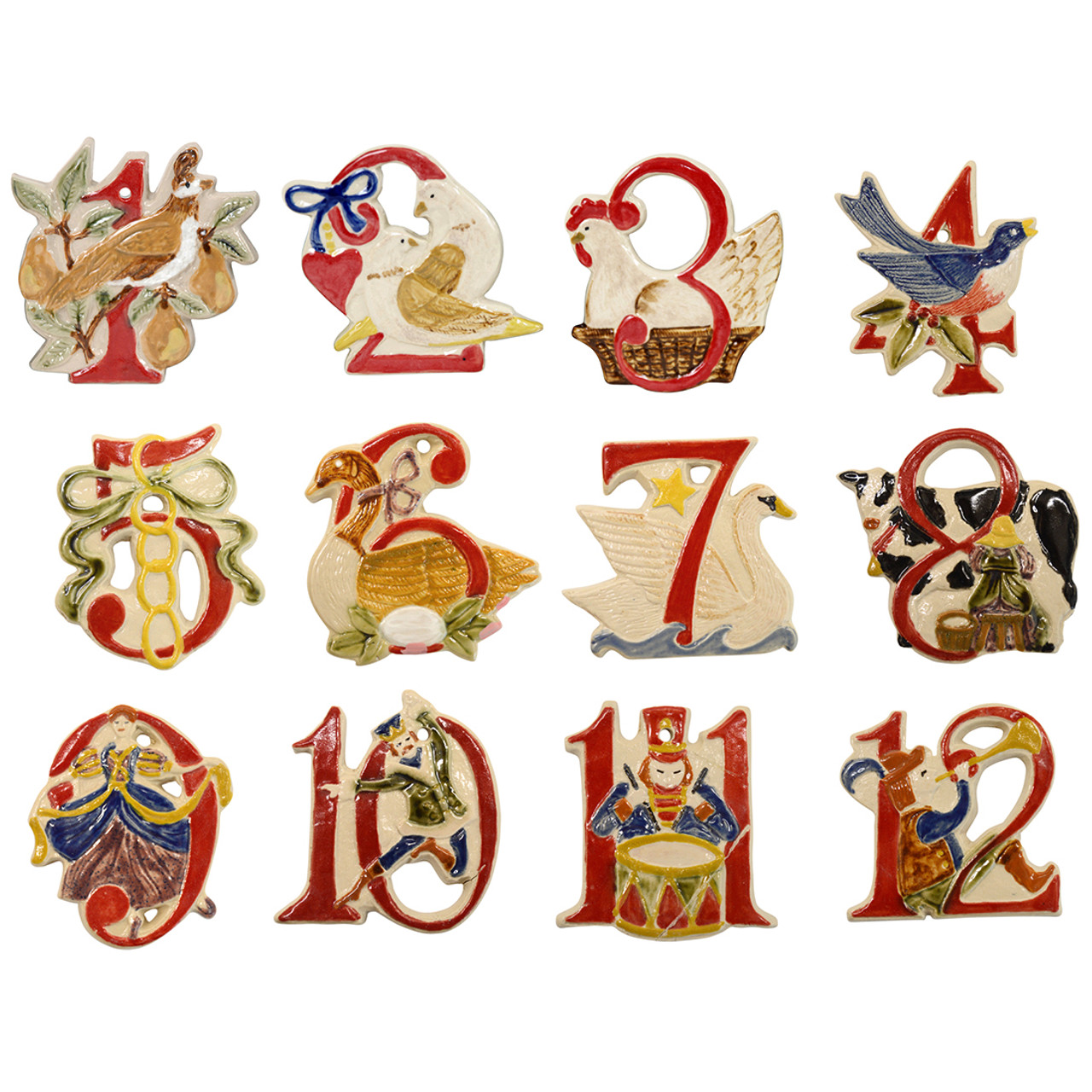 Twelve Days Of Christmas Ornaments.The Twelve Days Of Christmas Ornament Set 1 12