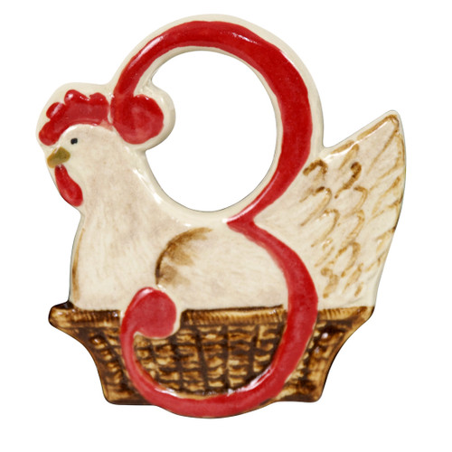 Three French Hens Twelve Days of Christmas Ornament