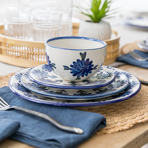 4-Piece Thin Place Setting in Bachelor Button