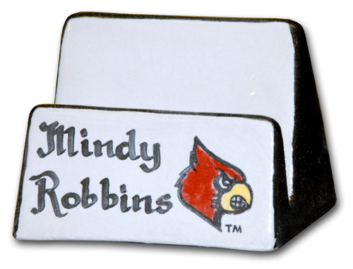 Personalized University of Louisville Business Card Holder