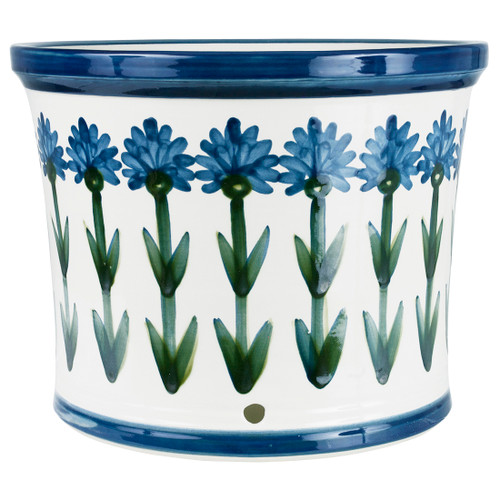 "15"" Gardeners Pot in Bachelor Button"