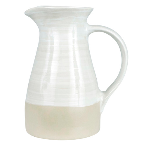 2 1/2 Qt Pitcher in White - Louisville Pottery Collection