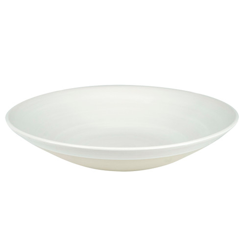 """15"""" Flared Bowl in White - Louisville Pottery Collection"""